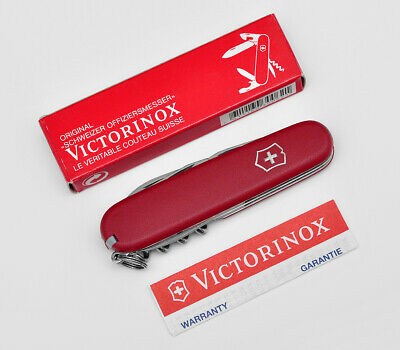 VINTAGE VICTORINOX SWISS ARMY POCKET KNIFE SPARTAN ECOLINE MAT RED 91MM 3.3603