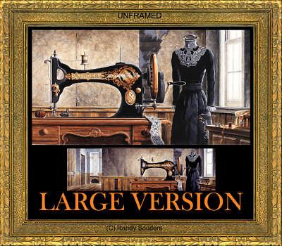 Singer Sewing Machine Treadle Crank Thimble Swift Lace Mannequin SIGNED Souders