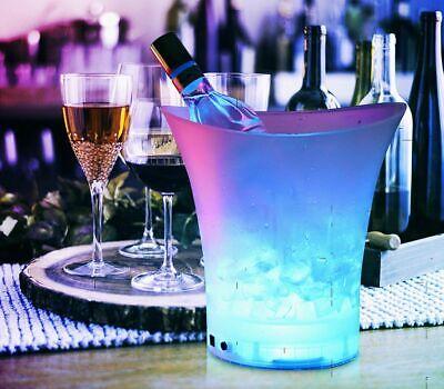 LED Eiswürfelbehälter 5 Liter Champagnerkühler Sektkühler Flaschenkühler Eisbox