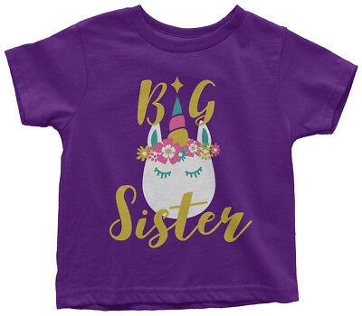 - Unicorn Big Sister Toddler T-Shirt Magical Gift