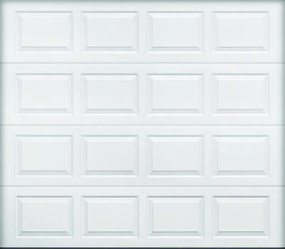 Wayne Dalton 9100 Insulated Garage Door, 8 ft W x 7 ft H, Dagger, White