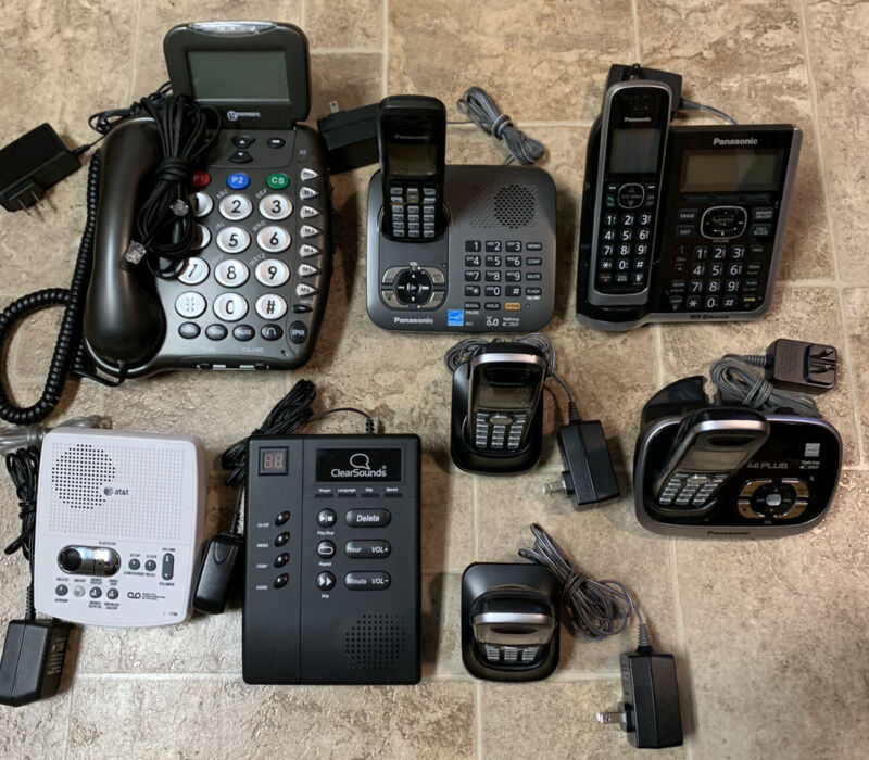 Panasonic Lot Cordless Bluetooth Phone System & More (ClearSouds Geemarc AT&T)
