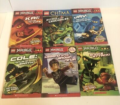 Scholastic Lego books  Lot Of 6 Ninjago Chima