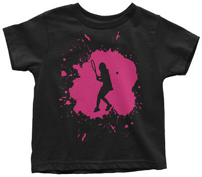 Girl Birthday Party Ideas (Tennis Splatter Girl Toddler T-Shirt Player Birthday Party Gift)