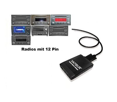 USB SD AUX Adapter MP3 AUDI CD Wechsler Navi Plus 3 RNS-LOW BNS 5.0 RNS-E 12P