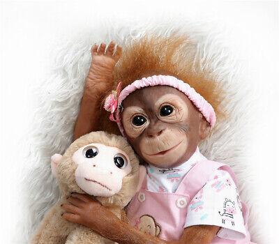Reborn Baby Silicone Monkey Dolls 21inch Life Like Reborn Newborn Ape Babies Toy