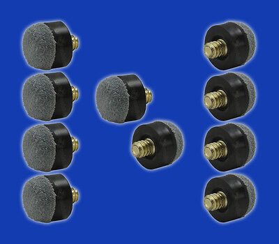 10 Screw-On Replacement Tips for Pool Cues - Soft -12mm