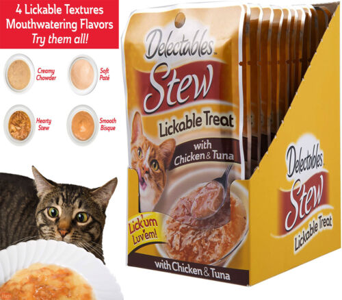 Delectables Stew Lickable Wet Cat Treat - Chicken Pack of 12 free shipping fast