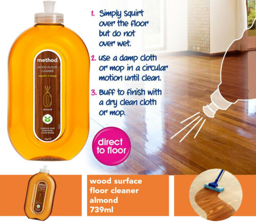 Method+Squirt+and+Mop+Wood+Laminate+%26+Wood+Floor+Cleaner+Almond+Non-toxic+739ml