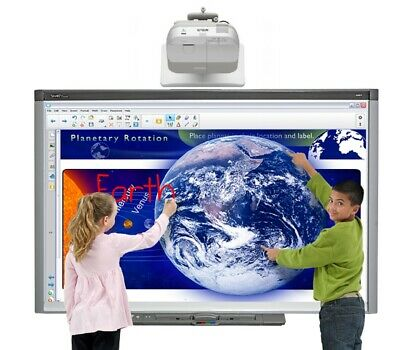 Interactive Smart Board With Epson Projector For Classroom 90 Days Warranty