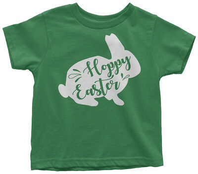 Hoppy Easter Bunny Toddler T-Shirt Cute Happy Holiday Basket Gift