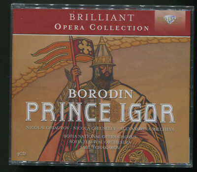 Prince Igor by Alexander Borodin - 3 CD set Sofia National Opera (Sealed)