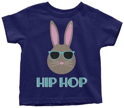 Hip Hop Bunny Toddler T-Shirt Cute Happy Easter Basket Egg Hunt Gift - Toddler Easter Basket