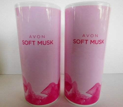 2x Soft Musk * Shimmering Body Powder * AVON * 1.4oz * 2 pack * LOT
