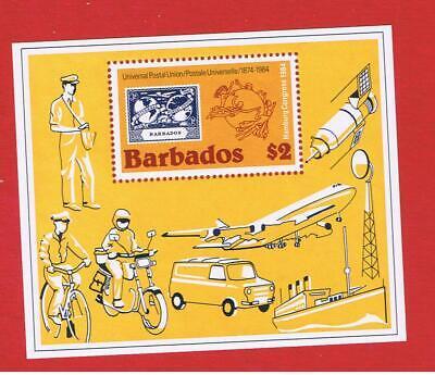 Barbados #631  MNH OG    UPU  souvenir sheet  Free S/H