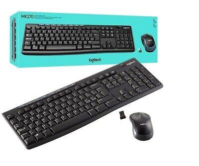 New Logitech MK270 Wireless Combo Keyboard and Mouse Set (UK QWERTY)