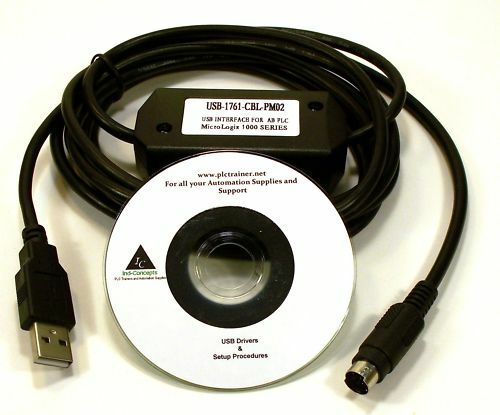Allen Bradley Micrologix cable USB 1761-CBL-PM02 For use on ALL MicroLogix PLC