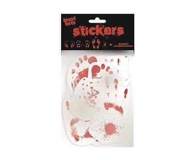 Blutbad Blutige 8 Sticker Wandaufkleber Wandsticker Halloween Aufkleber Horror
