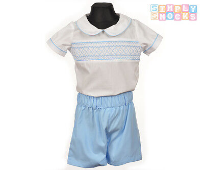 Hand Smok Prinz George Shirt / Shorts Set Roma Baby Junge Diamant Outfit (Baby Prinz Outfit)