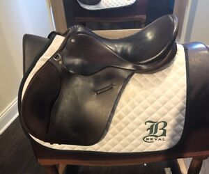 17.5/ 18 Ainsley All Purpose Jumping Saddle, Long Forward Flap, Made In England