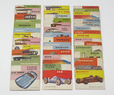 Lot of 44 1954-55 Topps World On Wheels Vintage Trading Cards