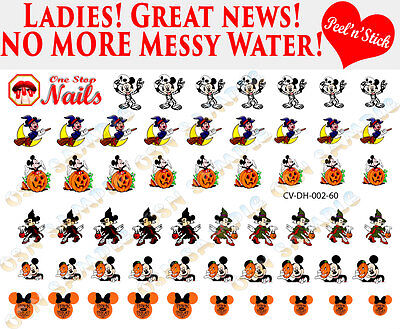 Disney Halloween Nail Decals (Disney Halloween Clear Vinyl PEEL and STICK Nail Decals 60)