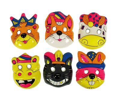 asken für Kinder Erwachsene bunt Halloween Fasching Karneval (Erwachsene Halloween-masken)