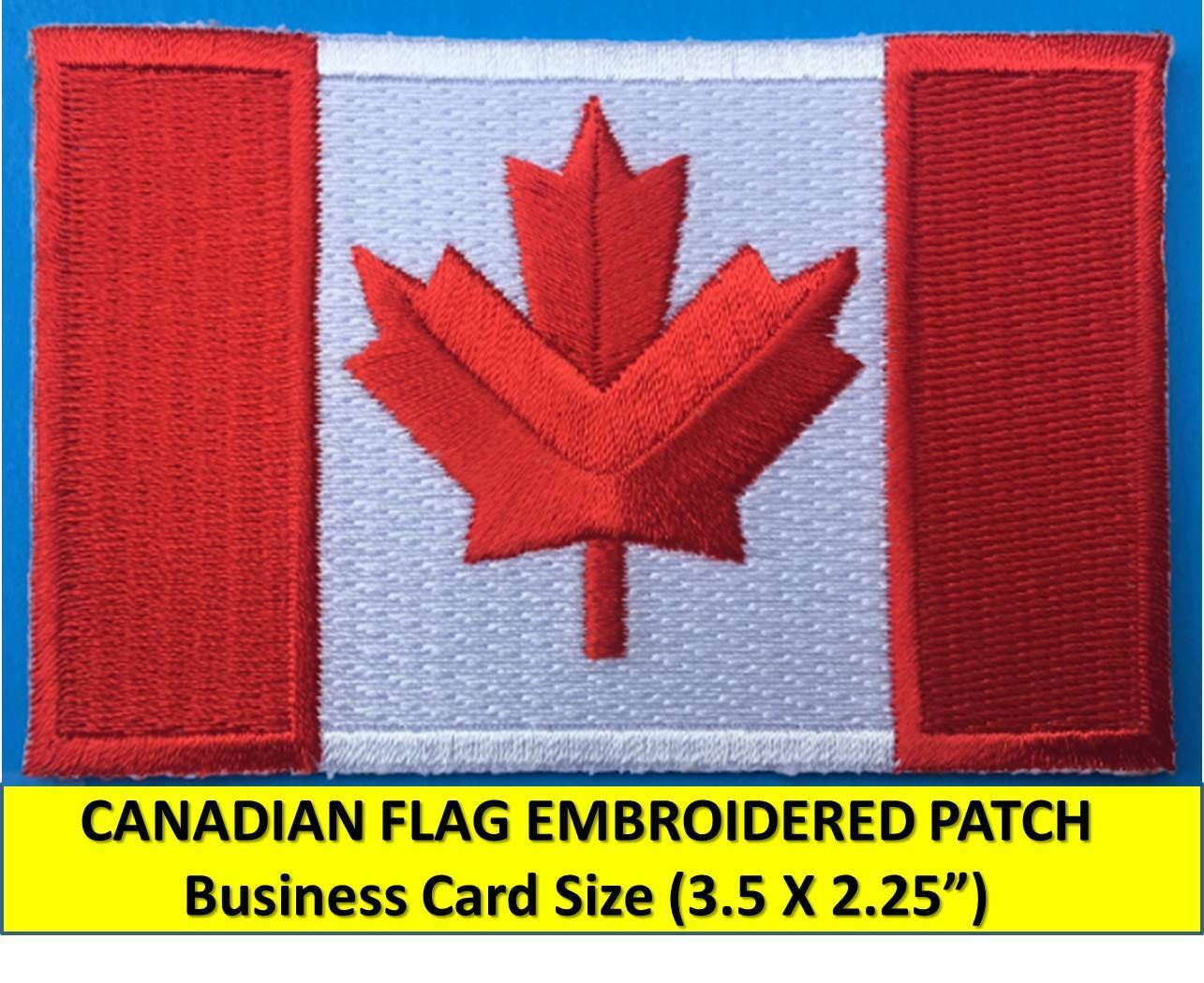 canadian flag embroidered patch iron on sew