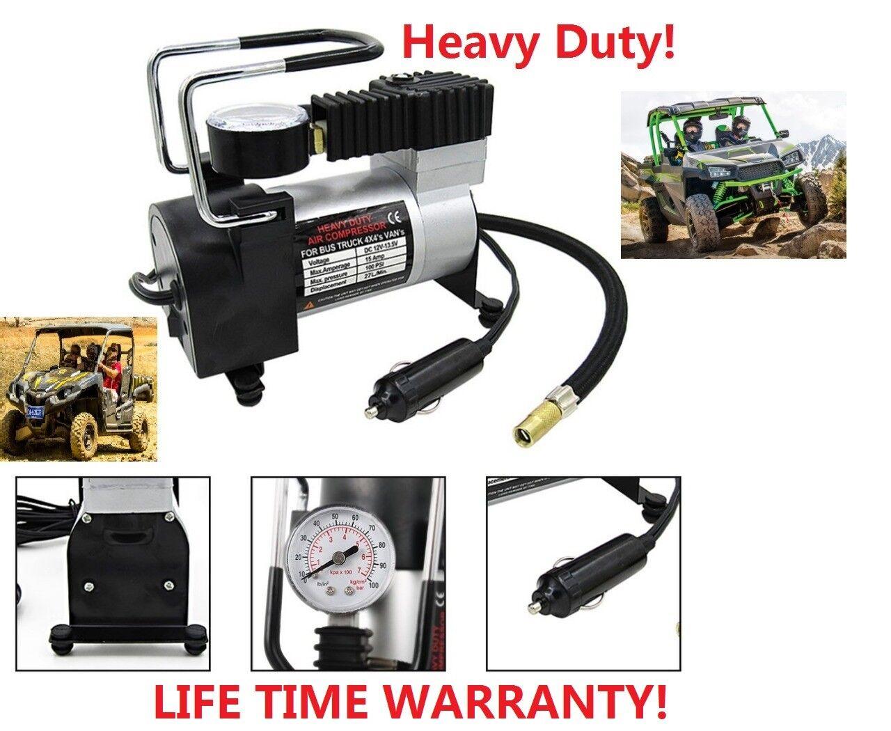 Heavy Duty Portable 12V 1 Car  Tire Inflator Pump Air Compre