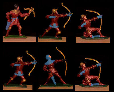 Starlux Red Knights - Set of 6 Missile Troops in 4 poses - 60mm Painted