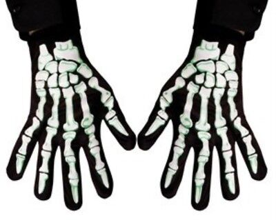 HAAC Baumwolle Skelett Handschuhe für Erwachsene für Halloween Fasching Karneval