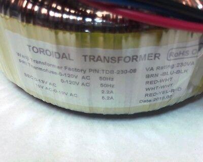 Diy Toroidal Audio Power Transformer Tdb-230-08 Va Rating 230va New