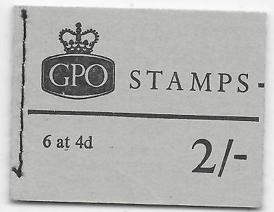 GB BOOKLET SG NP39 JANUARY 70 M.N.H.TRIMMED TOP PANE 1;PANE 2 GOOD PERFORATIONS.