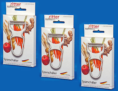 3x Ritter Sparschäler Spargelschäler Gemüseschäler Schäler