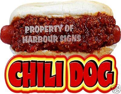 Chili Dog Hot Dog Decal 6x9 Concession Food Truck Van Stand Cart Vinyl Sticker