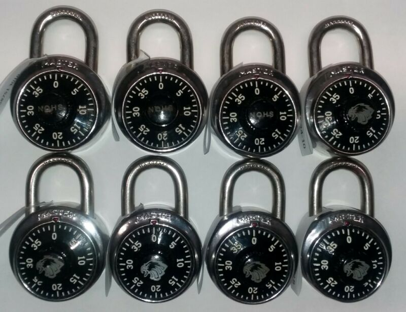 Vintage Master Lock Combination Padlock Lot / Bundle - Set of 8 with Combos