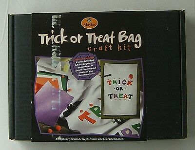 Halloween Craft Kit Trick or Treat Bag MAYBE 2002 Complete Set Jumbo Easy Fun 6+ - Easy Halloween Treats Kids