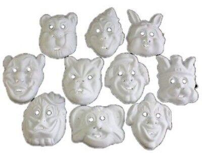Masken Kinder Erwachsene weiss Halloween Fasching Karneval (Erwachsene Halloween-masken)