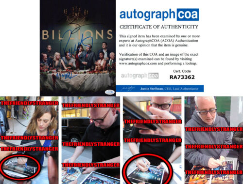 "MAGGIE SIFF Paul Giamatti BRIAN KOPPELMAN signed ""BILLIONS"" 8X10 PHOTO Proof COA"