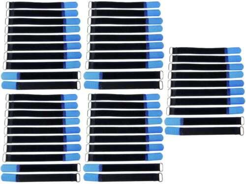 50 Klettbänder Kabelklett 200 x 20mm blau Kabel Klett Band Kabelbinder Klettband