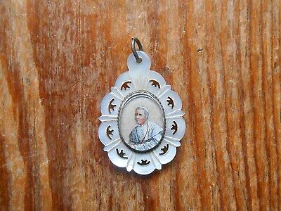 Beautiful Medallion Antique Double Face Fixed under / below Glass - Christianity