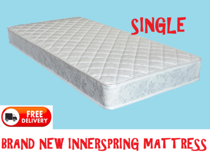 Brand New SINGLE Size Bed Innerspring Mattress - DELIVERED FREE