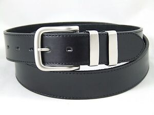 Mens black / brown bonded leather belt, all sizes available