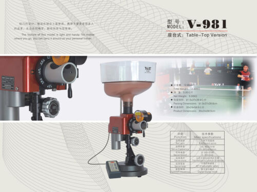 Popular Reliable Y&T 981 (8+spin type) ping pong table tennis robot ball machine