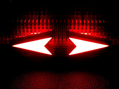 4 Pcs Red Led Arrow Triangular Turn Signal Direction Shaped Bright Display 9-12v