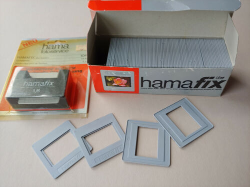 Vintage Hama HamaFix plastic slide mounts and Dia-System 89 mounts glassless