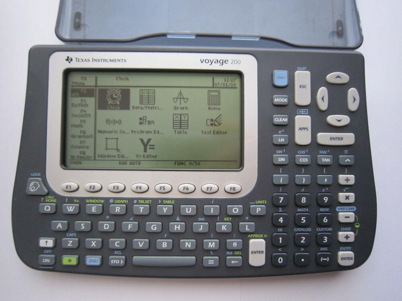 Texas Instruments TI-Voyage 200 Grafischer Taschenrechner komplett