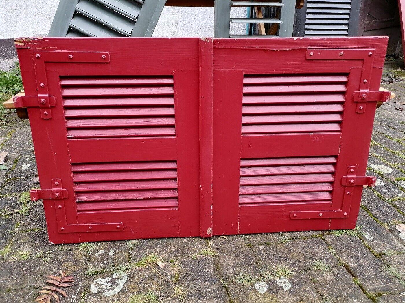 1 Paar Fensterladen - Holz - gebraucht - Höhe 63 cm, Breite 51,5 cm