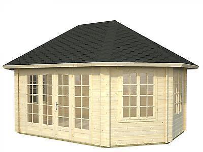 LUXOR  LOG CABIN  - 44mm - Summer House, Garden Building, Home Office