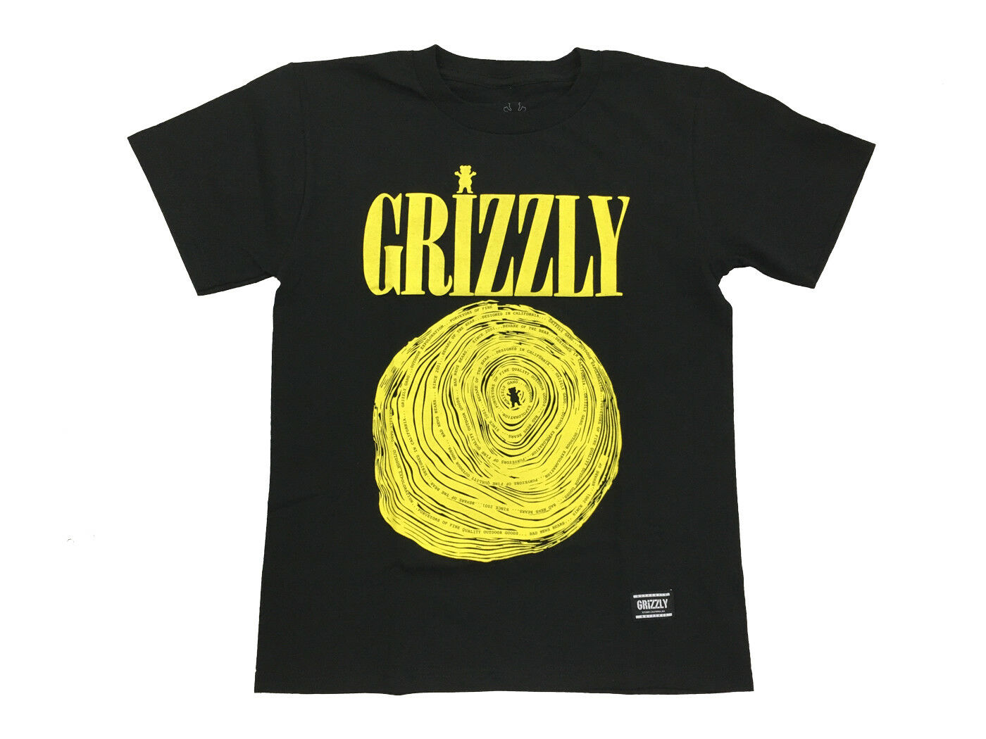 Grizzly Griptape Nevermind Youth T-Shirt Bear Black Tee Youn